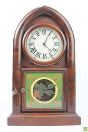 Sale 8635 - Lot 8 - Timber Cased Mantle Clock