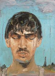 Sale 8722 - Lot 591 - Steven Cox (1958 - ) - Boy in the Rain, 1989 56 x 40.5cm