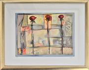 Sale 8778A - Lot 5034 - Lennor Gogli - Rose Collage 85 x 74.5cm (frame)