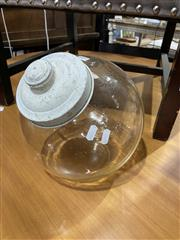 Sale 8872 - Lot 1075 - Vintage Glass Cookie Jar