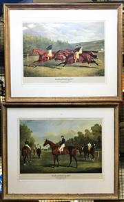 Sale 8941 - Lot 2056 - Pair of Limited Edition Horse Racing Prints Goodwood Gold Cup, 1833: Rubini before The Start & Rubini beating Whale and Beiran pub...