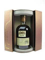Sale 8329 - Lot 523 - 1x 1981 Antigua Distillery English Harbour Antiguan Rum - bottle date 2006, bottle no. 2443/5712, 40% ABV, 700ml in presention box