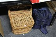Sale 8346 - Lot 2408 - 2 Picnic Baskets one with books