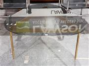 Sale 8705 - Lot 1055 - Glass Top Vintage Coffee Table on Bronze Base