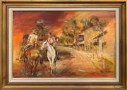Sale 8807 - Lot 2041 - Norma Dickerson - Hows the Wife?oil on board, 48.5 x 74cm, signed lower right