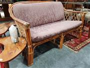 Sale 8904 - Lot 1096 - Cane Two Seater Lounge