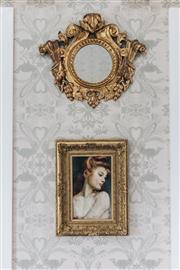 Sale 9040H - Lot 20 - A 19th Century carved rococo style giltwood framed mirror 53 x 61 cm -
