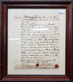 Sale 9208 - Lot 2082 - A warrant for the Committal of Elizabeth Webber, Widow, to the Lunatic Asylum at Bodmin, Cornwall 25th June 1829