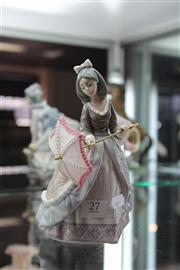 Sale 8112 - Lot 27 - Lladro Figure of a Girl with Parasol