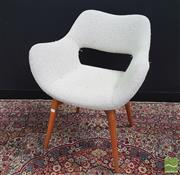 Sale 8395 - Lot 1063 - Grant Featherston TV Chair with Beige Woollen Upholstery