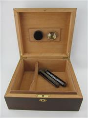 Sale 8411 - Lot 626 - Cigar Humidor with Inlaid Top, together with 2x H. Upmann Coronas Major