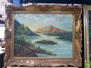 Sale 8552 - Lot 2001 - S. V. OConnor - Ovens River, Bright Victoria, 1914 44 x 59cm