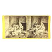 Sale 8793 - Lot 88 - The Australian Letter, stereograph by Frank Good c1865. Rare Victorian image