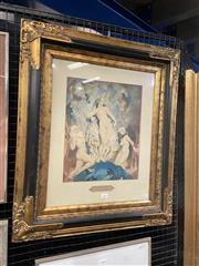 Sale 9016 - Lot 2002 - Norman Lindsay The Dear Things colour lithograph, 70 x 60cm (frame)