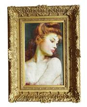 Sale 9040H - Lot 62 - Artist unknown, early European school possibly French - Portrait of a lady faint signature remains