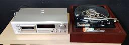 Sale 9176 - Lot 2216 - Vintage turn table together with cassette player - some parts in office