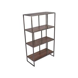 Sale 9245T - Lot 73 - An industrial inspired display / bookcase made with reclaimed timber & aged pewter metal frame. Dimensions: H 120 x W 70 x D 32cm