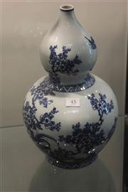 Sale 8047 - Lot 45 - Double Gourd Blue & White Chinese Vase