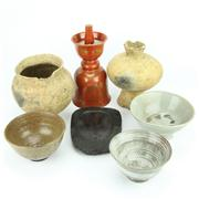 Sale 8304A - Lot 62 - Oriental Ink Stone with Ceramic & Earthenwares