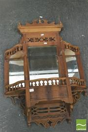 Sale 8392 - Lot 1018 - Oriental Carved Wall Shelf with Mirror