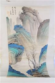Sale 8926A - Lot 658 - A Chinese Mountain Scene Scroll
