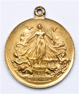 Sale 9144 - Lot 202 - An Australia Peace Medal Triumph of Liberty & Justice Dated 1919
