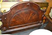 Sale 8115 - Lot 1190 - Victorian Ornate Flame Mahogany Bedhead