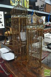 Sale 8328 - Lot 1095 - Pair of Graduated Bird Cages