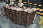 Sale 8328 - Lot 1001 - French Style Serpentine Front Marble Top Sideboard