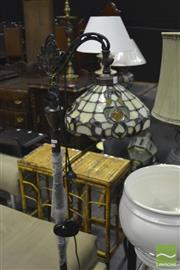 Sale 8341 - Lot 1026 - Leadlight Hanging Shade Standard Lamp