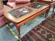 Sale 8593 - Lot 1093 - Glass Insert Coffee Table
