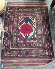 Sale 8617 - Lot 1008 - Persian Wool Soumac, with bold floral pattern, within geometric & star borders  (185 x 142cm)