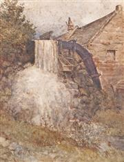 Sale 8732A - Lot 5039 - Louis Buvelot (1814-1888) - The Old Mill, c1880 26 x 18cm