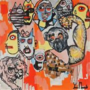 Sale 9062A - Lot 5022 - Yosi Messiah (1964 - ) - Monkey Play 102 x 102 cm (total: 102 x 102 x 4 cm)