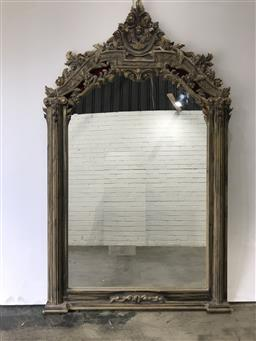 Sale 9102 - Lot 1068 - Ornate French style timber framed mirror (h:244 x w:145cm)
