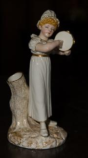 Sale 7978 - Lot 56 - Royal Worcester Girl with Tambourine Figure by James Hadley