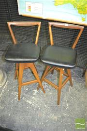 Sale 8275 - Lot 1086 - Pair of TH Brown Bar Stools