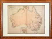 Sale 8325A - Lot 77 - John Bartholomew (1831 - 1893) - Map: Australia, 1859 41.5 x 55cm