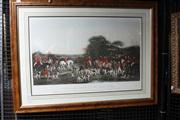 Sale 8332A - Lot 90 - Francis Grant (1803 - 1878) - Sir Richard Sutton and the Quorn Hounds 41.5 x 72cm