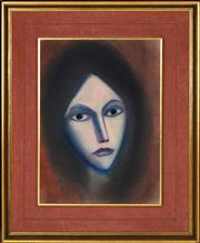 Sale 8358 - Lot 553 - Robert Dickerson (1924 - 2015) - Expression, c1985 37 x 27cm