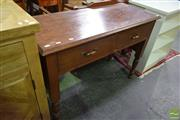 Sale 8550 - Lot 1518 - Timber 2 Drawer Hall Table