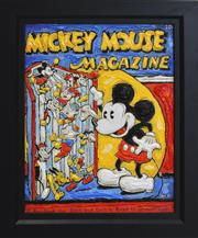 Sale 8778A - Lot 5039 - Leslie Lew - Reading Mickey 46.5 x 57cm (frame)