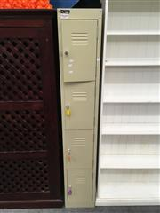 Sale 8782 - Lot 1345 - Metal Bay of Four Small Lockers with Keys