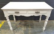 Sale 8996 - Lot 1075 - French Style 2 Drawer Hall Table (h:77 x w:110 x d:60cm)