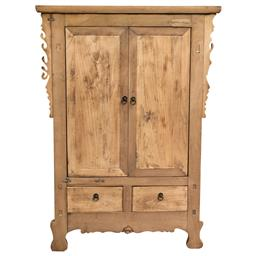 Sale 9216S - Lot 1 - A vintage Chinese elm cabinet with two doors above two drawers, Height 131cm x Width 95cm x Depth 44cm