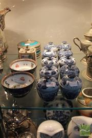Sale 8226 - Lot 88 - Export Ware Plates with Other Ceramics Inc Set Of 10 Lidded Blue & White Dishes