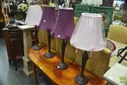 Sale 8326 - Lot 1247 - Two Pairs Of Table Lamps