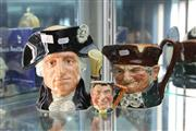 Sale 8360 - Lot 7 - Royal Doulton George Washington, Old Charley & Another  Character Jugs