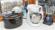 Sale 8380A - Lot 30 - A Kenwood Patissier, together with a Phillips juicer and a silent juicer by Kuvings, a Crock Pot, Kenwood Icecream Maker and a blender
