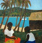 Sale 8513A - Lot 5041 - Ray Crooke (1922 - 2015) - Under the Palm Tree 61 x 61cm